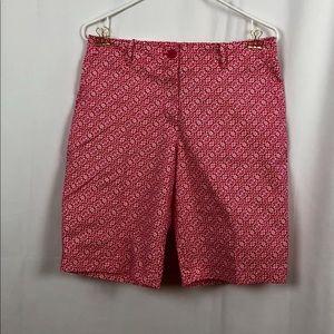 Talbots fuchsia/white Bermuda shorts 6